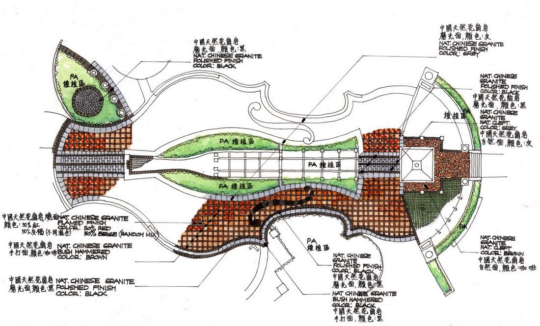 贝尔高林-东堤湾景观规划设计手绘方案