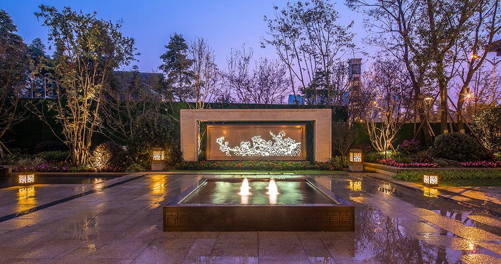 首开龙湖紫宸新中式景观设计